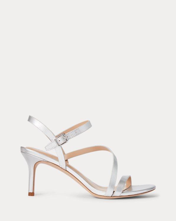 Landyn Metallic Leather Sandal