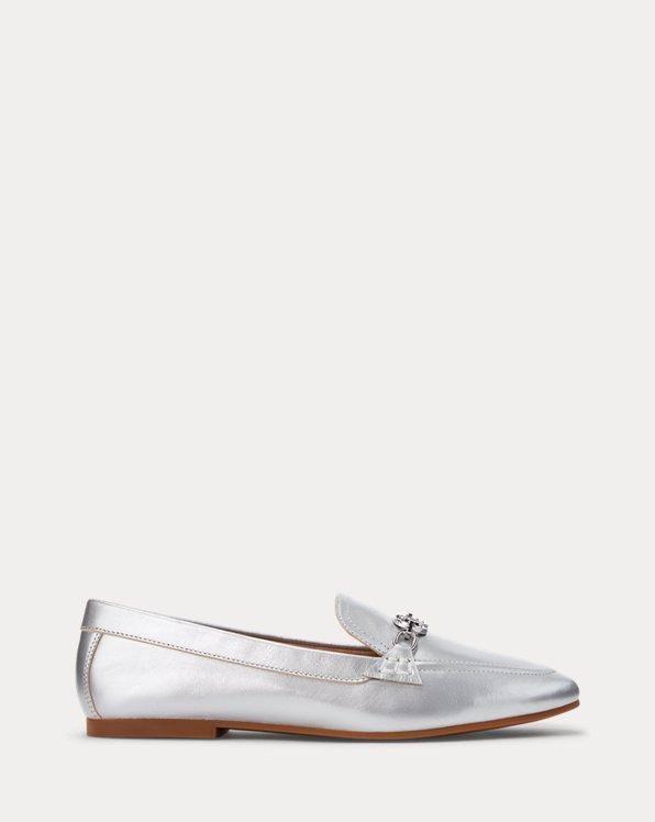 Averi Metallic Leather Loafer