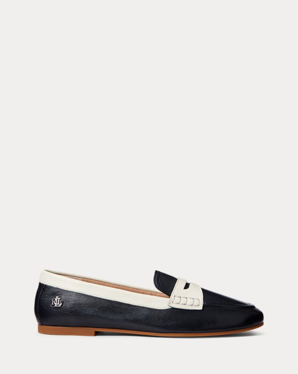 Adison Two-Tone Nappa Leather Loafer