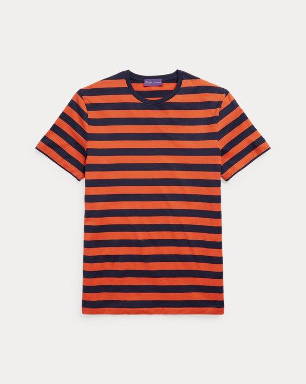 Striped Lisle Crewneck T-Shirt