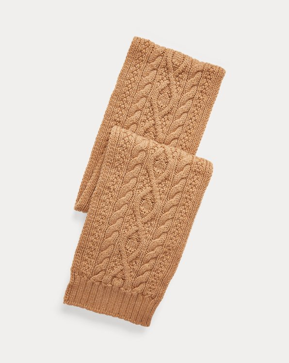 Cable-Knit Cashmere Scarf
