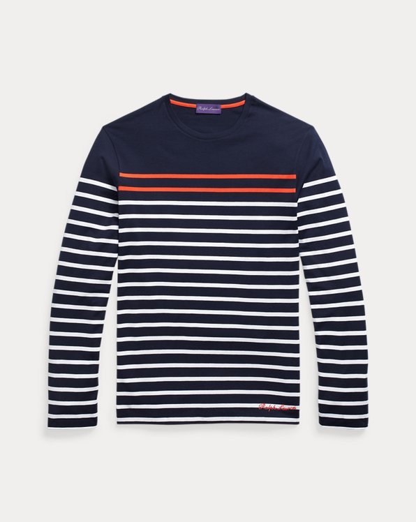 Striped Lisle Long-Sleeve T-Shirt