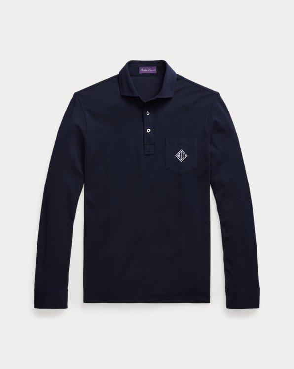 Polo à monogramme en coton piqué