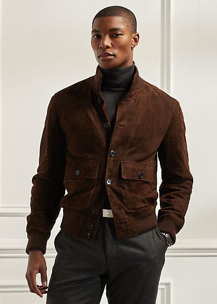 Polo Ralph Lauren Suede Mockneck Jacket