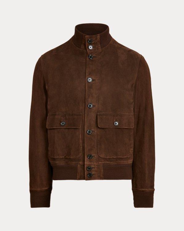 Suede Mockneck Jacket