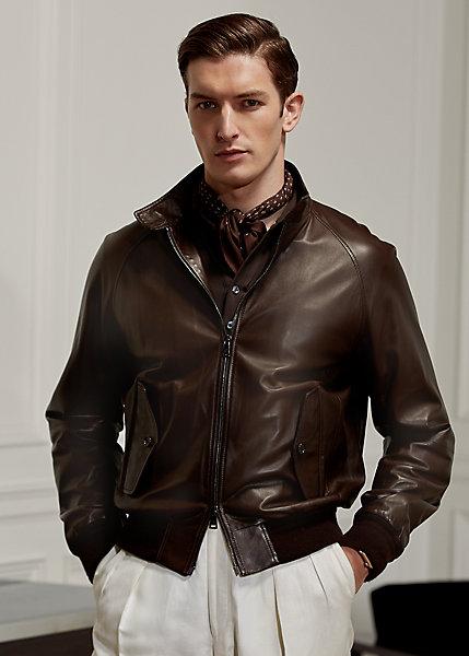 Polo Ralph Lauren Torrence Plonge Leather Jacket