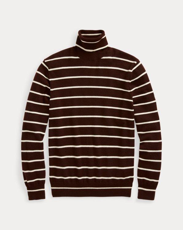 Striped Cashmere Roll Neck Jumper