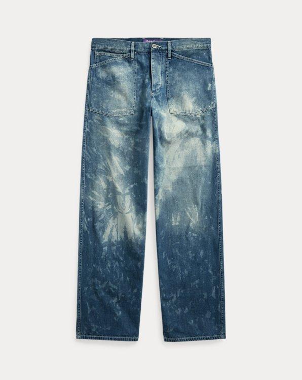 Straight Fit Distressed Jean