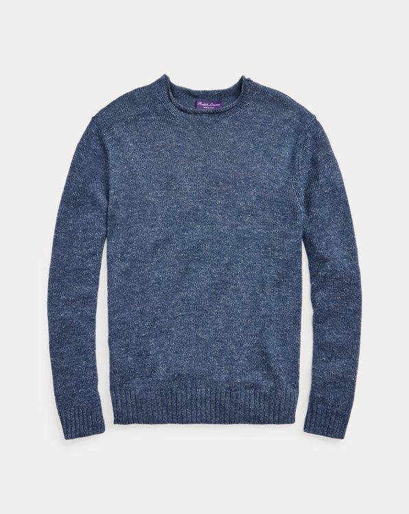 Silk-Linen Rollneck Sweater