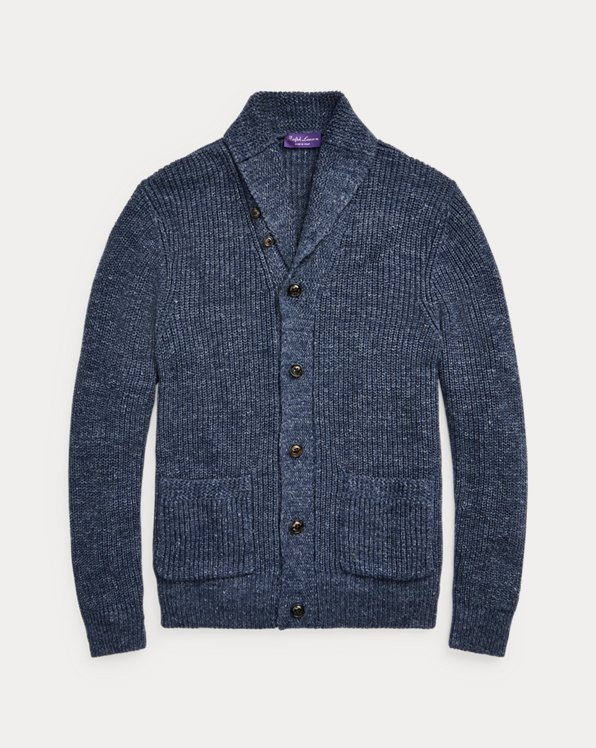 Silk-Linen Shawl Cardigan