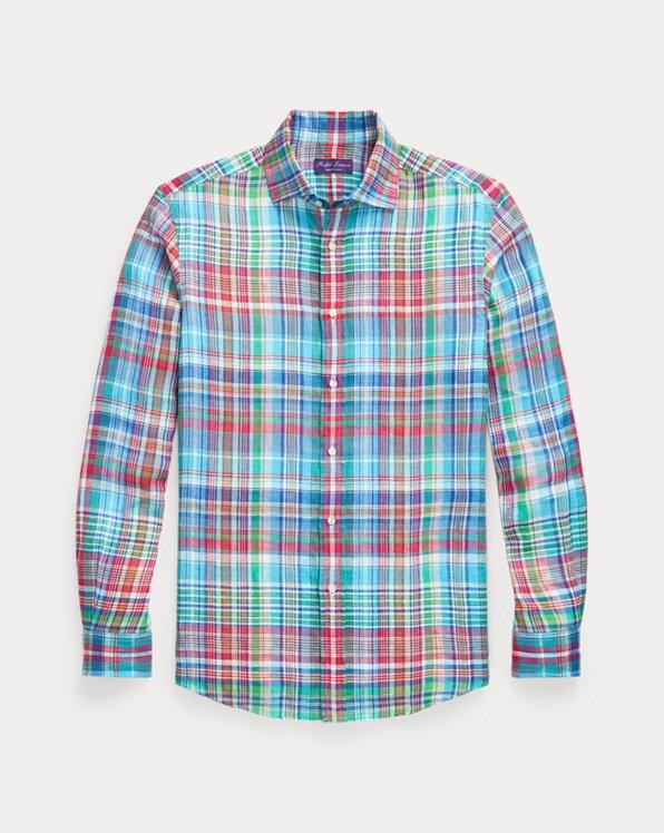 Camisa de lino a cuadros