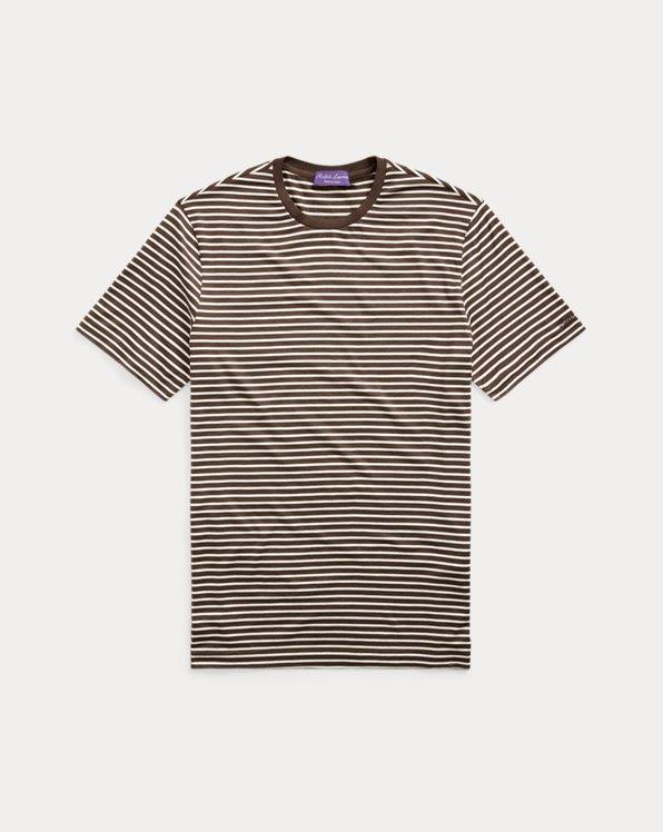 Striped Silk-Blend Jersey T-Shirt