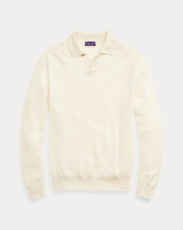 Cashmere Polo-Collar Sweater