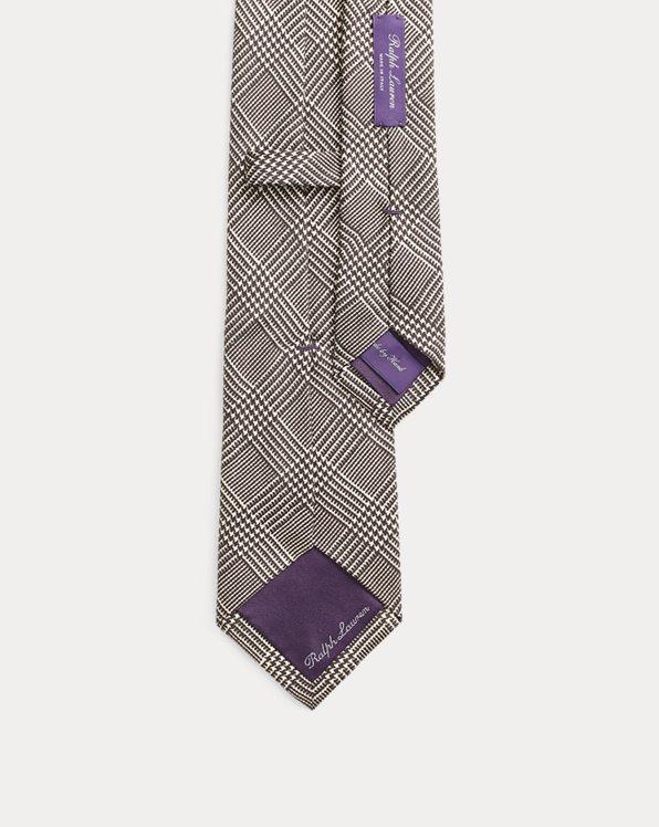 Glen Plaid Silk Tie