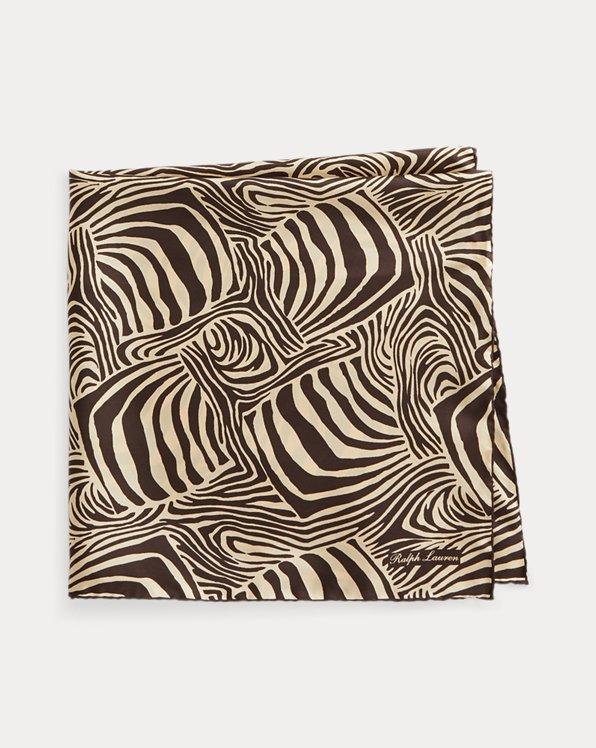 Zebra-Print Linen Scarf