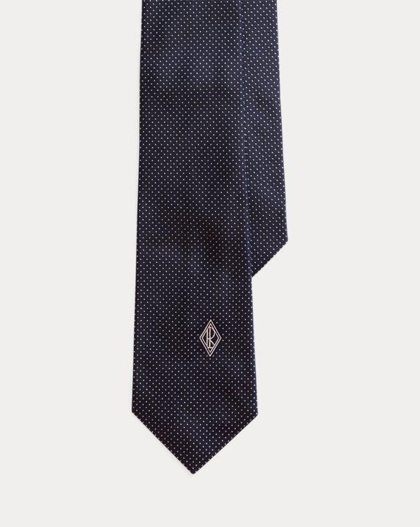 Monogram Pin Dot Silk Tie
