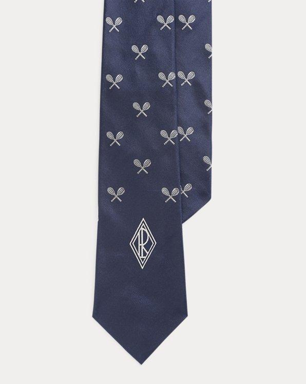 Monogram Tennis Silk Tie