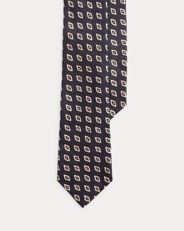 Cravate élégante en lin brut