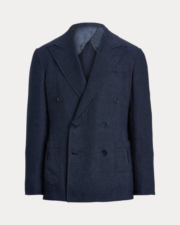 Chaqueta de traje Kent de seda y lino