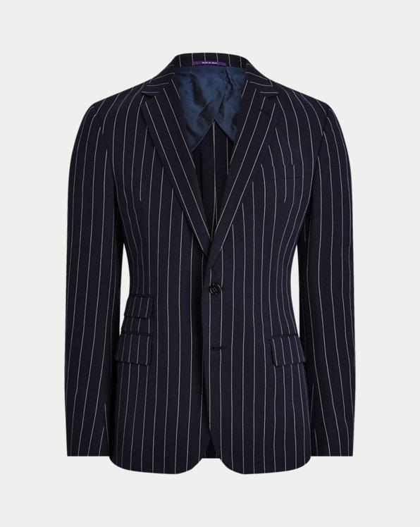 Kent Striped Twill Suit Jacket
