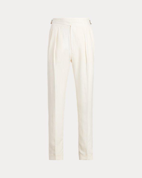 Pantalón de traje de sarga con hebilla