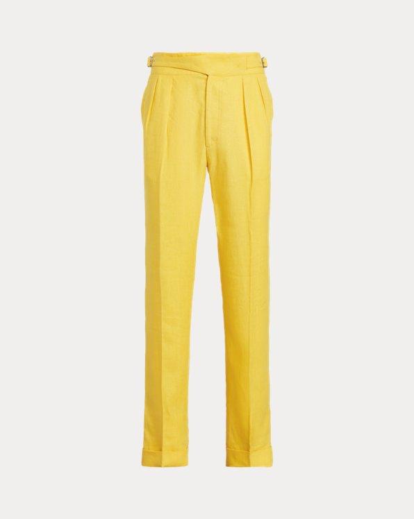 Pantalón de lino con hebilla