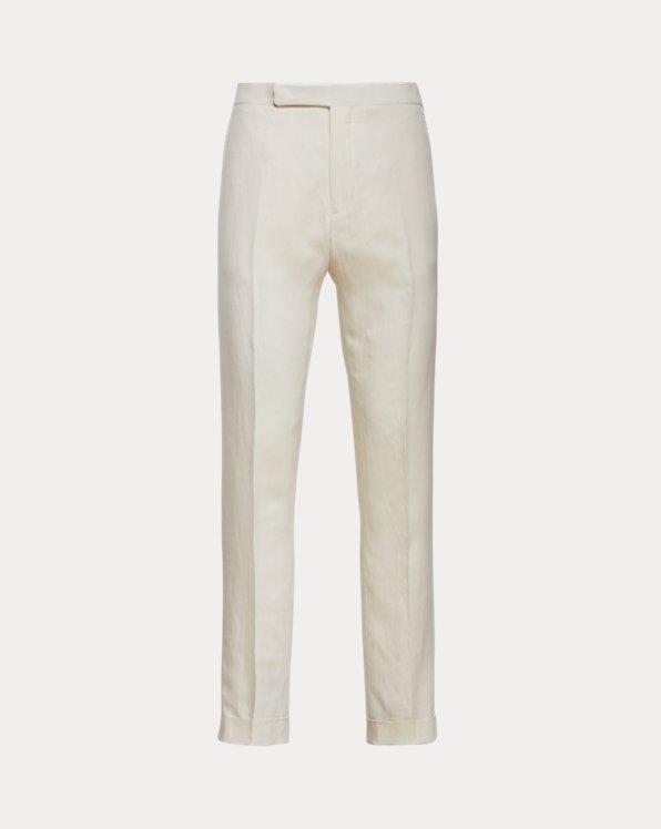Gregory Silk-Linen Twill Suit Trouser