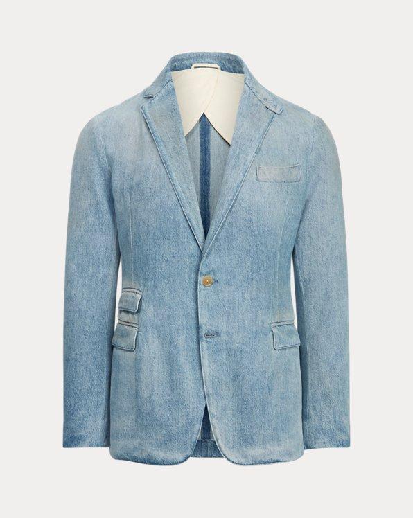 Hadley Faded Denim Suit Jacket