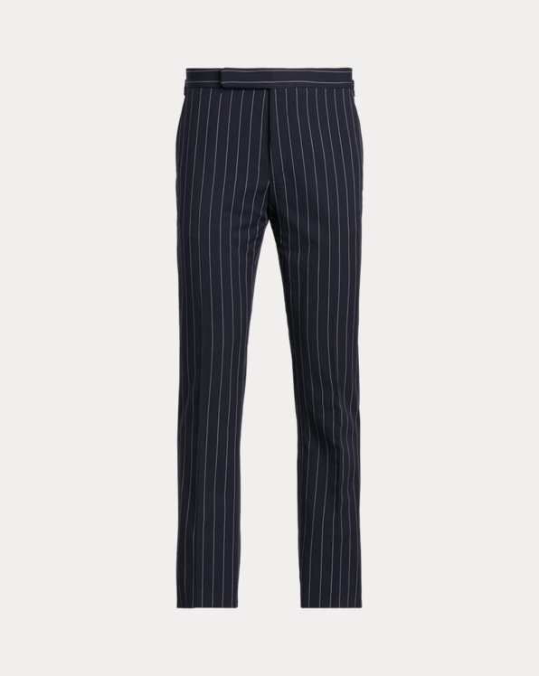 Gregory Striped Twill Suit Trouser