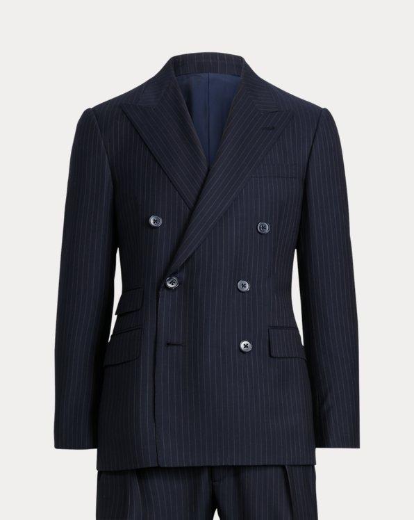 Gregory Pinstripe Wool Twill Suit