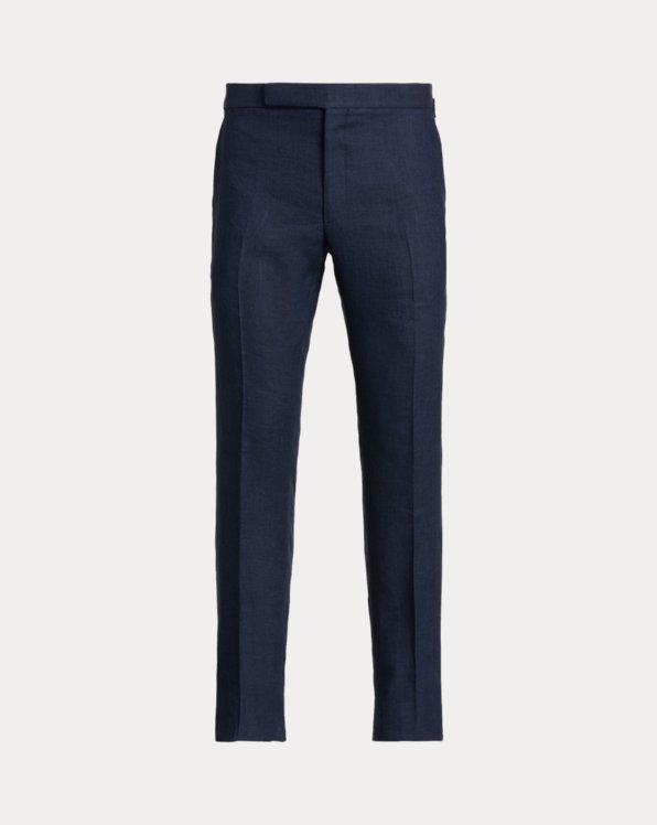 Pantalón de traje Gregory de seda y lino