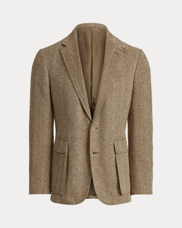 Kent Silk Herringbone Tweed Sport Coat