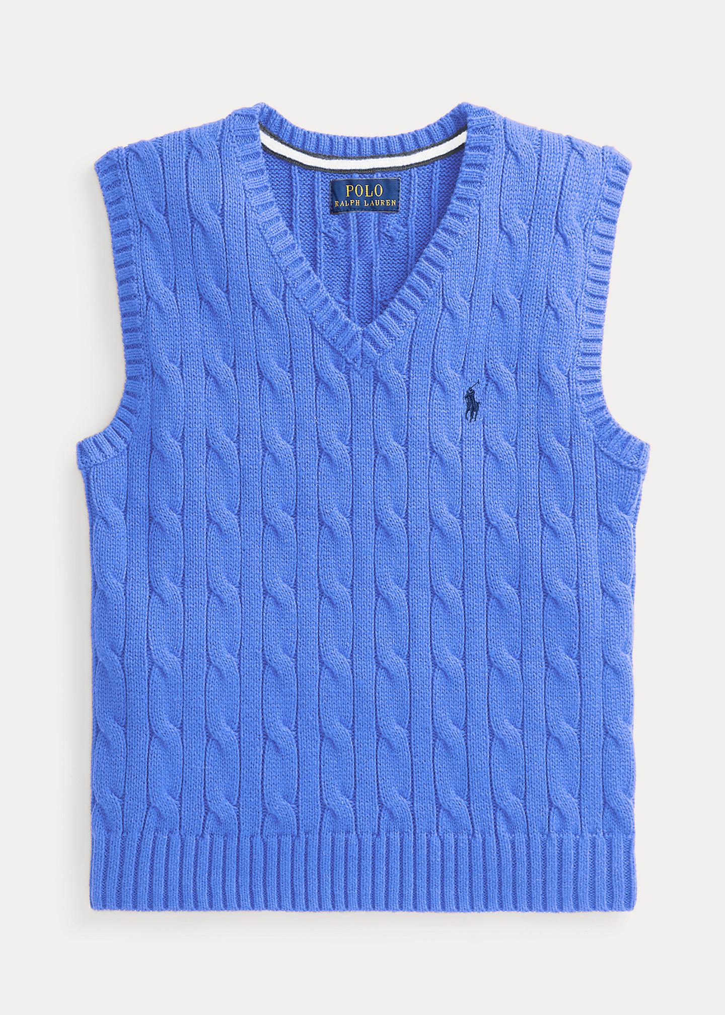 Polo Ralph Lauren Cable Knit Cotton Sweater Vest