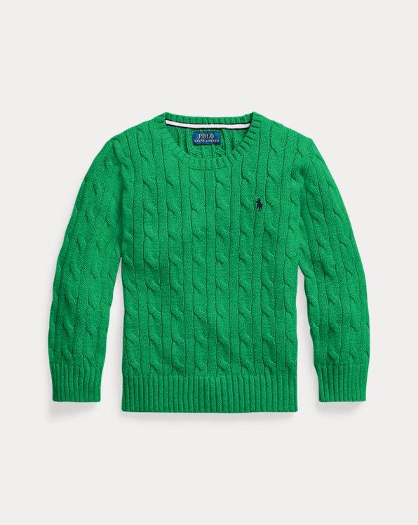 폴로 랄프로렌 남아용 꽈배기 스웨터 Polo Ralph Lauren Cable-Knit Cotton Sweater,Golf Green