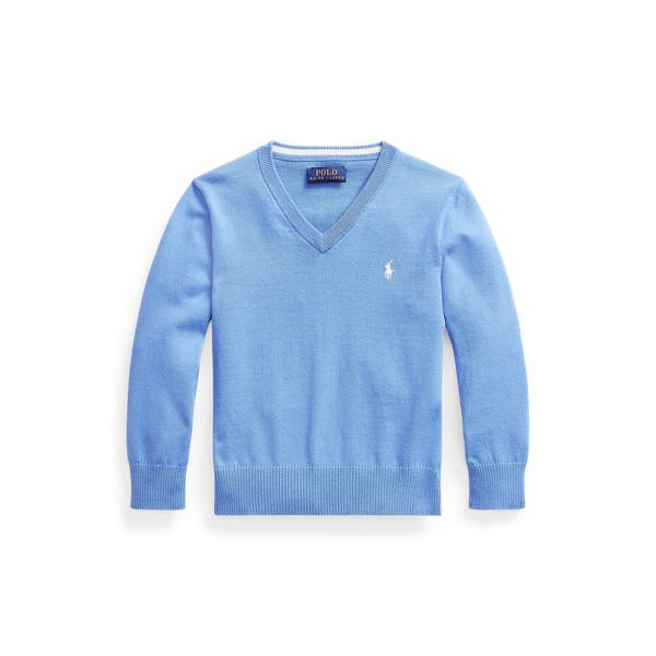 폴로 랄프로렌 남아용 스웨터 Polo Ralph Lauren Cotton V-Neck Sweater,Harbor Island Blue