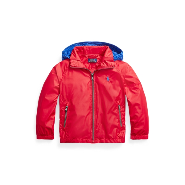 폴로 랄프로렌 남아용 자켓 Polo Ralph Lauren Water-Resistant Packable Hooded Jacket,Rl 2000 Red/Sapphire Star