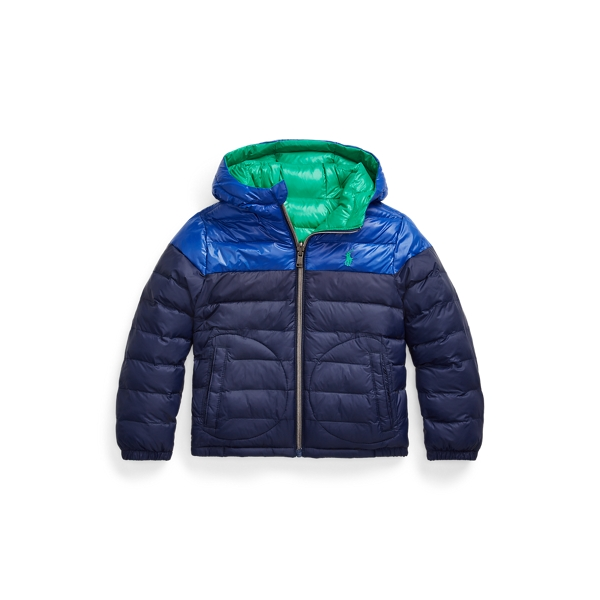 폴로 랄프로렌 남아용 자켓 Polo Ralph Lauren Reversible Water-Repellent Jacket,Newport Navy/Green