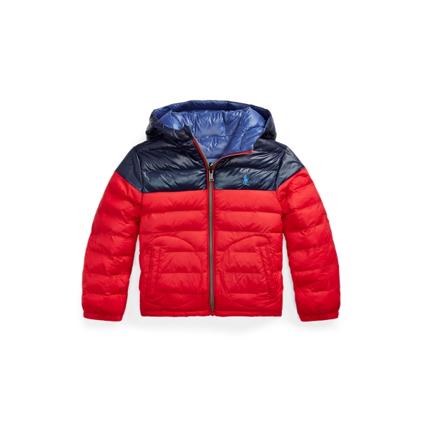 폴로 랄프로렌 남아용 자켓 Polo Ralph Lauren Reversible Water-Repellent Jacket,RL 2000 Red/Newport Navy