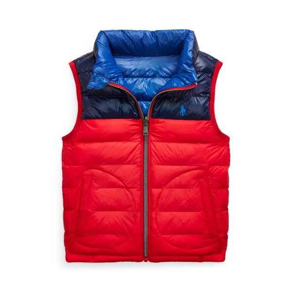 폴로 랄프로렌 남아용 조끼 Polo Ralph Lauren Reversible Water-Resistant Vest,RL 2000 Red/Newport Navy