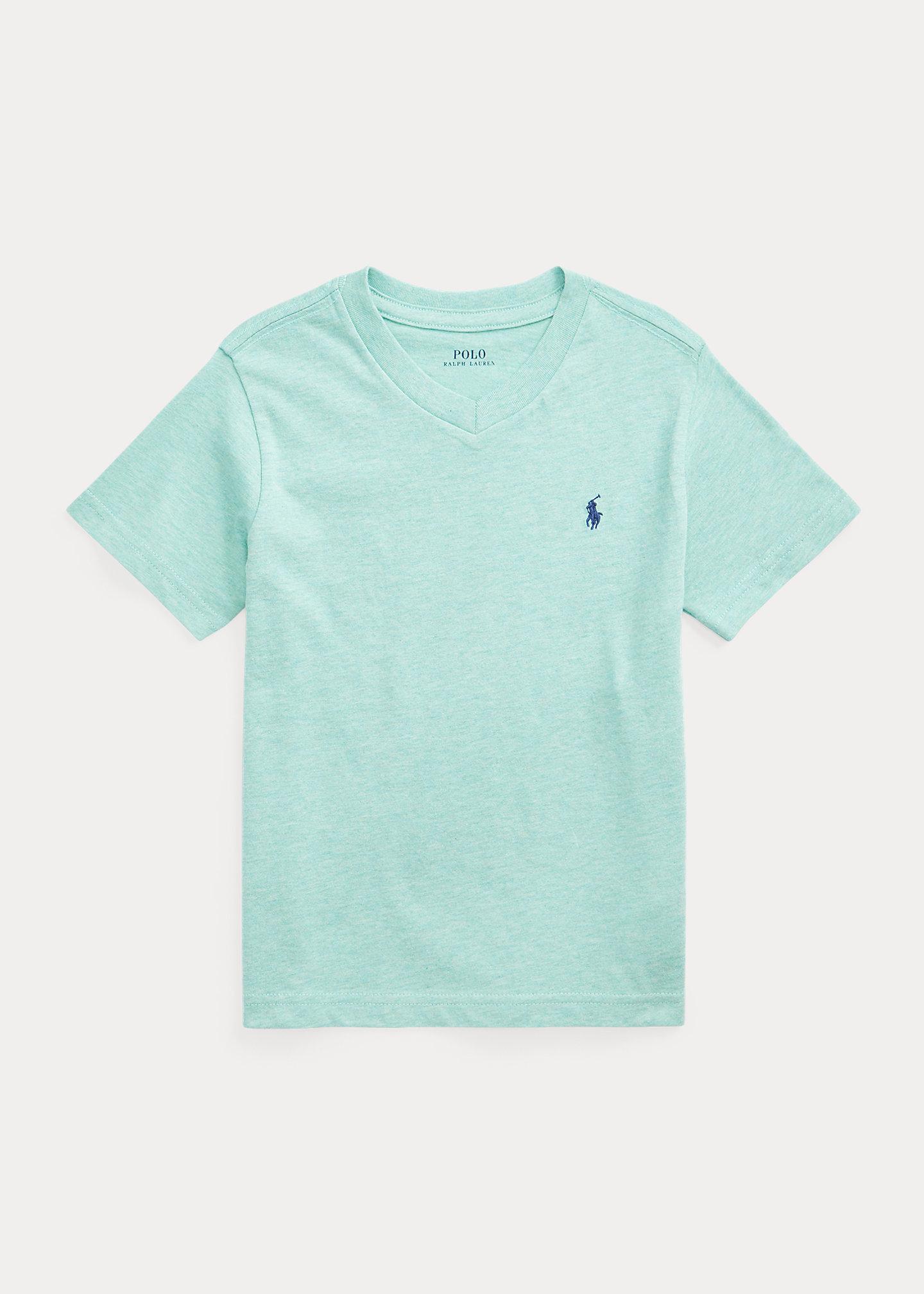 Polo Ralph Lauren Cotton Jersey V Neck Tee