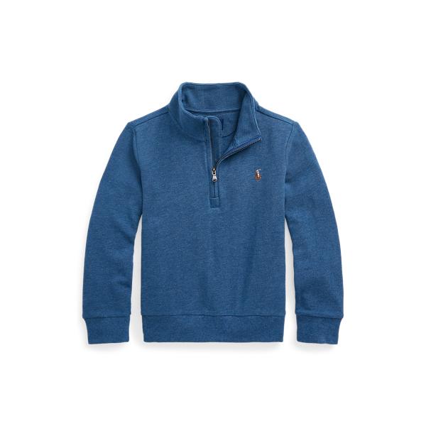 폴로 랄프로렌 남아용 풀오버 Polo Ralph Lauren Cotton Mesh Quarter-Zip Pullover,Royal Heather