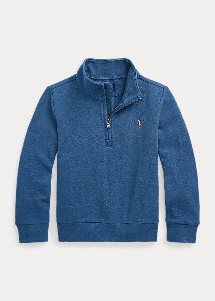 Polo Ralph Lauren Cotton Mesh Quarter Zip Pullover