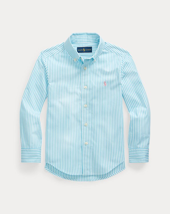 Striped Cotton Poplin Shirt