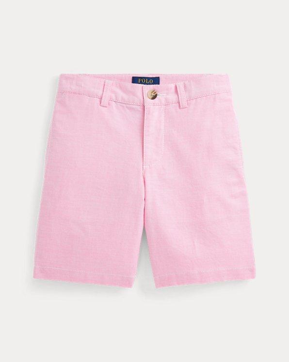 Slim Fit Stretch Cotton Oxford Short