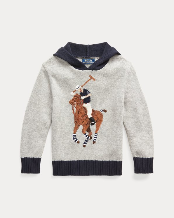 Big Pony Cotton-Blend Hooded Sweater