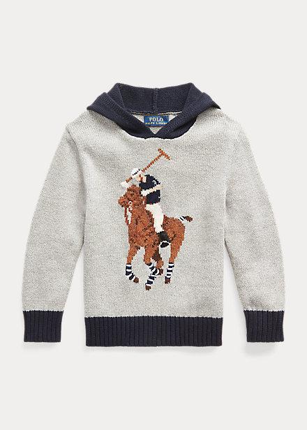 Polo Ralph Lauren Big Pony Cotton Blend Hooded Sweater
