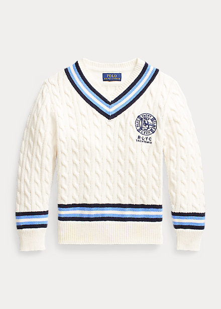 Polo Ralph Lauren Embroidered Cotton Cricket Sweater