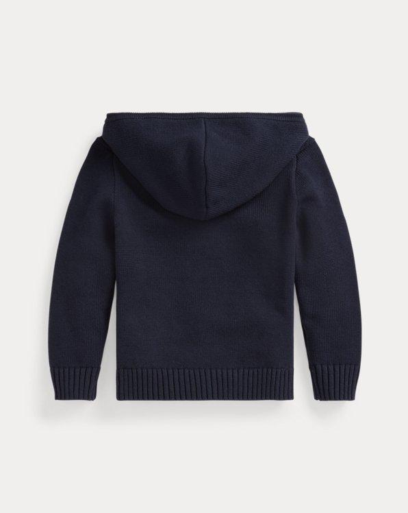 Tie-Dye Big Pony Cotton Hooded Sweater