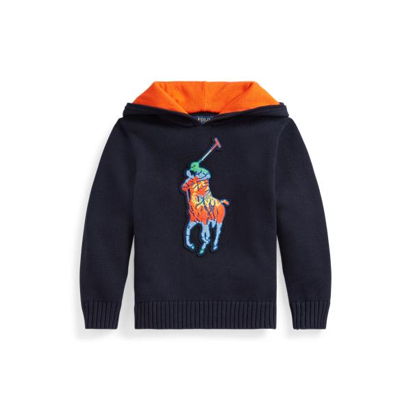 폴로 랄프로렌 남아용 후드티 Polo Ralph Lauren Tie-Dye Big Pony Cotton Hooded Sweater,RL Navy