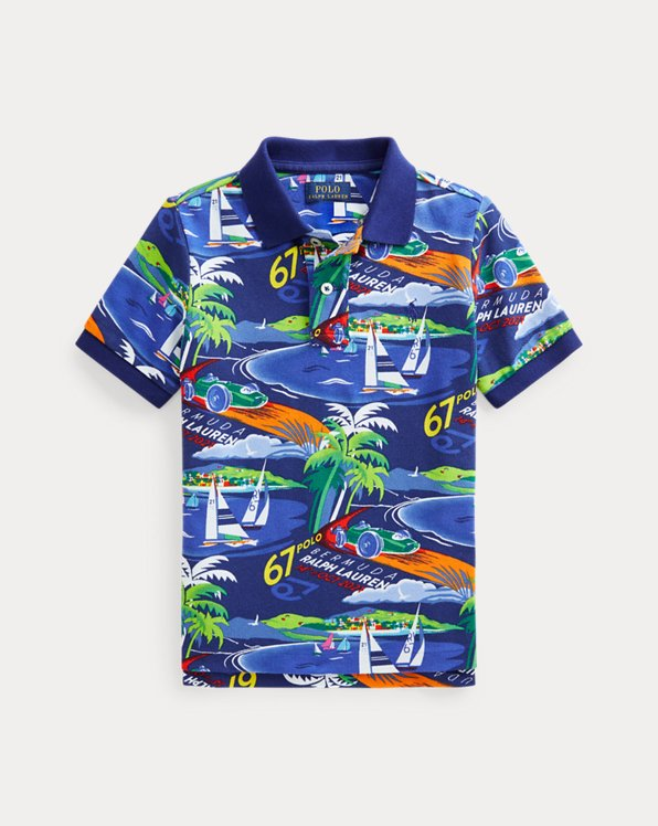 Race Car Cotton Mesh Polo Shirt